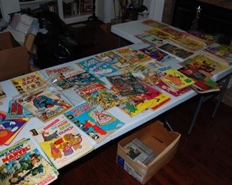 collection of comics, they are in the sunroom, selling as a lot