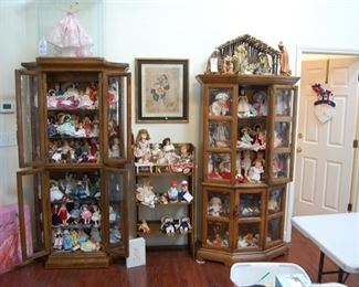 Splendor Baby in glass case and box, Madame Alexander Dolls & more