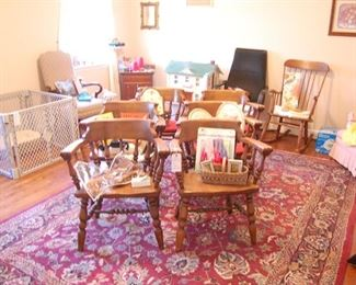 6 kitchen chairs that match there kitchen table. oriental, doll house