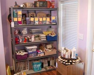 Craft supplies and Beanie Babies
