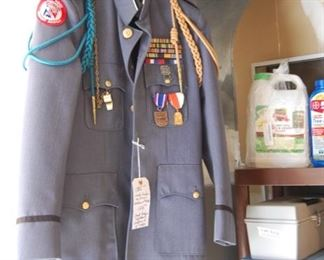 Oak Ridge Military Uniform, on right are 2 boxes of Oak Ridge things