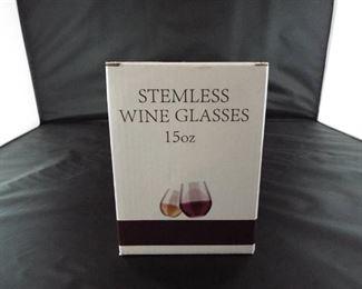 Stemless wine glass 15oz.