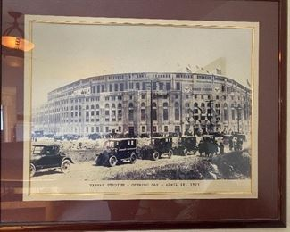 "Yankee Stadium - Opening Day - April 18, 1923.  Overall size 52"" x 43"""