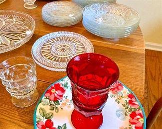 Fostoria Ruby red goblets