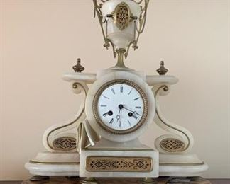 Marble Mantel Clock ( no name on face )