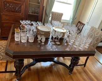 Waterford Glasses ( the china was removed by the homeowner )