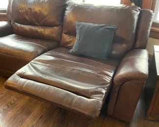 Remote recline Leather couch you won't won't to get up.. but you'll have to because we're moving :)