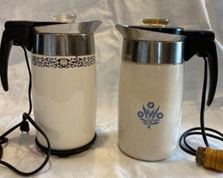 Vintage CorningWare Percolators w/Electric Inserts