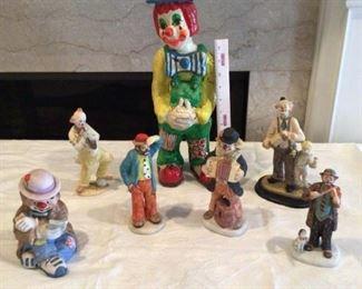 2 Emmett Kelly Clowns Clowns Galore