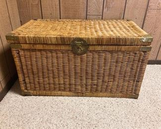 86 Wicker Chest