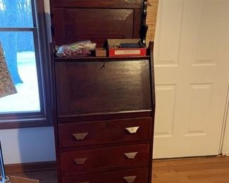Locking antique secretary desk