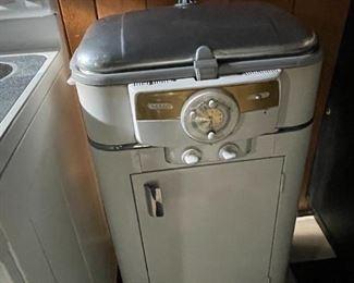 . . . a vintage standing roaster