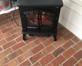 Stove in sunroom