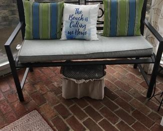 Bench in sunroom