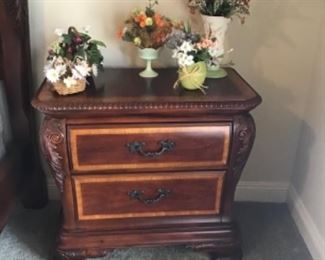 One of two very nice bedside tables