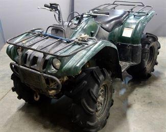 2003 Yamaha YFM400 Kodiak 4x4 ATV All-Terrain Vehicle, 263 Miles, VIN # 5Y4AJ07Y83A002646