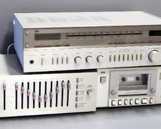 MCS Stereo System, Includes Receiver Model 3236, Equalizer Model G683-3035 And Cassette Deck Model 683-3555, All Power On