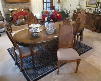 Provincial style Dining Table & 6  Chairs