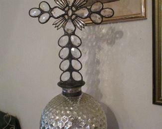 Jan Barboglio Sculpture, Mercury Glass, Iron & Crystal Prisms