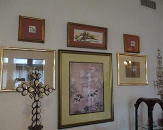 Framed Prints, Chinese style Pekingnese Dogs, Russian Peasants