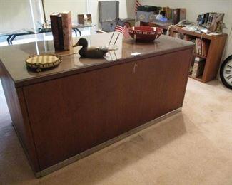 Modern Desk with hrome Trim. medium size