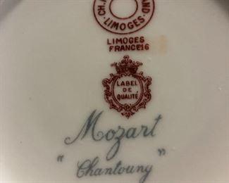 Mozart Chantoung Limoges France16 China Luncheon set