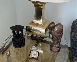 Side table, lamp...