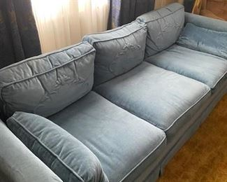 Sofa with matching loveseat.