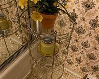 Bathroom glass table