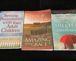 Inspirational soft back books - 3 shown for $10