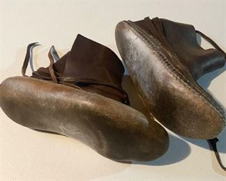 Additional photo of moccasin shoes.