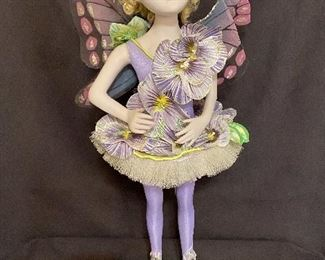"""Porcelain Doll Fairy """"Fucia"""" by artist Bill O'Connor, 1997 Measures 21 1/2"""" tall. No chips or cracks.$40"""