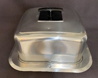 1950's West Bend square aluminum cake carrier with latch locks. $20