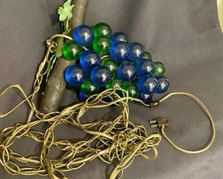 """Mid Century Modern """"Eagle"""" hanging swag light with lucite glass grapes. $90"""