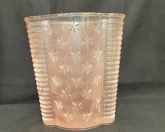 """Vintage Mid Century Modern acrylic/lucite waste paper basket. Measures 11 1/2"""" tall. $18"""