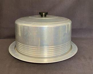"""1950's """"Regal Ware"""" aluminum round cake carrier. $15"""