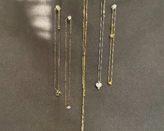 Lot of dainty necklaces. Good clasps. $25