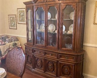 Gorgeous Break front china cabinet