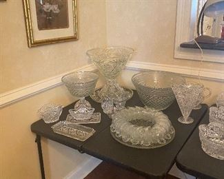 Lead Glass punchbowls by Fostoria and Waterford