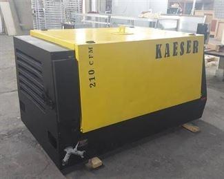 2011 Kaeser Diesel Air Compressor with 1799 Hrs - 210 CFM - Runs, Needs New Battery
