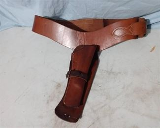 Leather Belt with Holster and Ammo holder