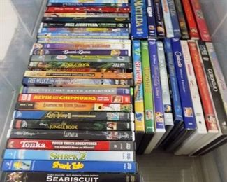 SEVERAL CHILDREN; DVD'S