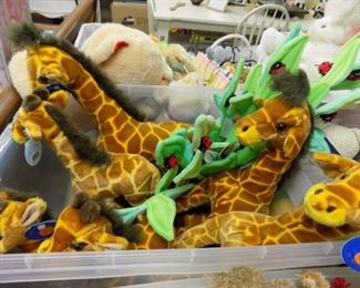 NEW PLUSH GIRAFFES AND LADYBUG STEMS