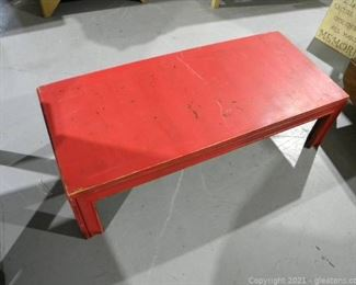 Low Red Coffee Table