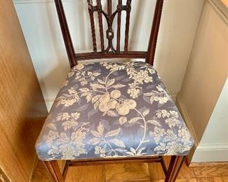 "$800 - Set of 4 Federal style, carved splat side chairs; each 36"" H x 21"" W x 21"" D, seat height is approx 19"""