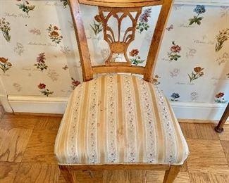 "$175 - Antique Biedermeir Dining chair - 21"" W x 18.5"" D x 35"" H, seat height approx 18"""