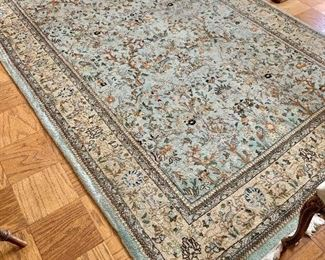 "$800 - Tabriz rug #1 - 71"" x 109"" - wear consistent with age and use"