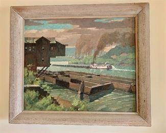"$1,800 - Original painting by Bamett W Jex; 24"" H x 28"" W"