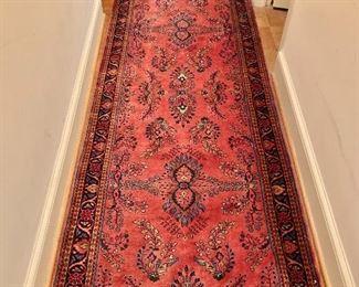 """$750 - #1 Sarouk rug; 144"""" x 37"""""""