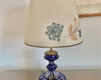 "$150 - Vintage lamp - Tested and working. 19"" H with 12"" diameter shade"